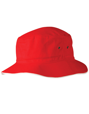 Picture of Winning Spirit - CH31 - Heavy brushed Cottoncontrast sandwich bucket hat