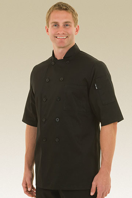 Picture of Chef Works - BLSS - Chambery Black Basic Chef Coat