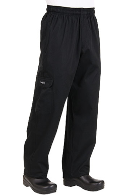 Picture of Chef Works - CPBL - Black Cargo Pant