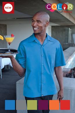 Picture of Chef Works - CSMV-MER - Men's Merlot Universal Contrast Cook Shirt