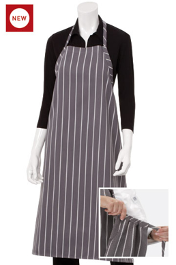 Picture of Chef Works - A100-GWS - Adjustable English Chef Apron NP