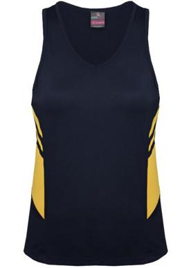 Picture of Aussie Pacific - 2111-Tasman Ladies Singlet Shirts
