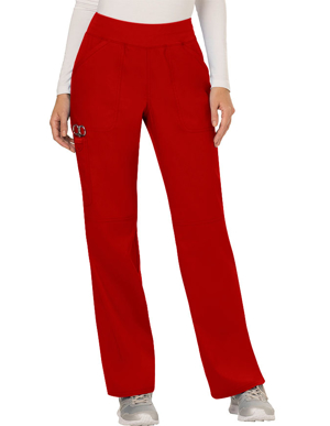 Picture of CHEROKEE -CH-WW110P-Cherokee Workwear Revolution Womens Mid Rise Straight Leg Pull-on Petite Pant