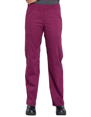 Picture of CHEROKEE-CH-WW170T-Cherokee Workwear Professionals Women's Elastic Waist Mid Rise Straight Leg Pull-on Cargo Tall Pant