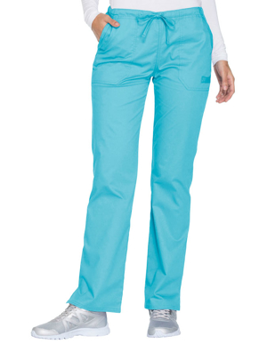 Picture of CHEROKEE-CH-WW130T-Cherokee Workwear Core Stretch Women's Mid Rise Straight Leg Drawstring Tall Pant