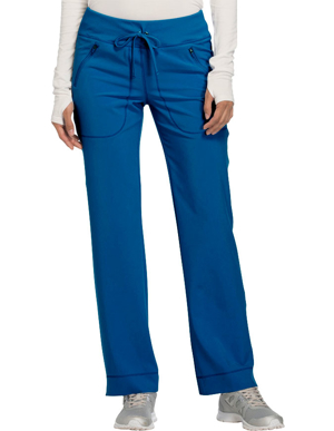 Picture of CHEROKEE-CH-CK100AP-Cherokee Infinity Women's Mid Rise Tapered Leg Drawstring Petite Pant