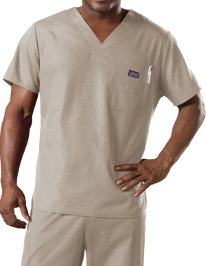 Picture of CHEROKEE-CH-4789-Cherokee Workwear Men's Chest Pocket V-Neck Scrub Top