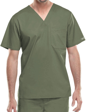 Picture of CHEROKEE-CH-4743-Cherokee WorkWear Men's Double Chest Pocket V-Neck Scrub Top