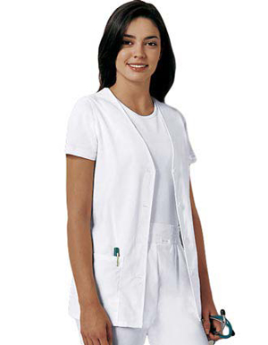 Picture of CHEROKEE-CH-1602WH-Cherokee Womens White Four Button Front Vest