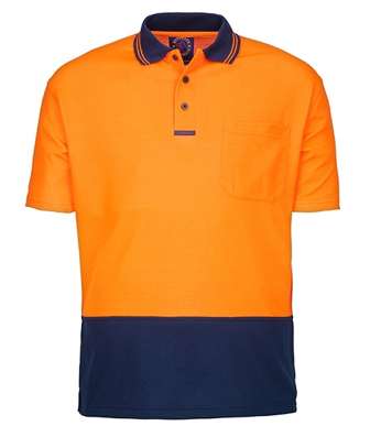 Picture of Ritemate Workwear-RM2346S-Hi Viz Polo Short Sleeve Shirts