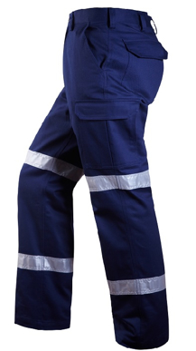 Picture of Ritemate Workwear-RM1004R-Cargo Trouser with 3M 8910 Reflective Tape