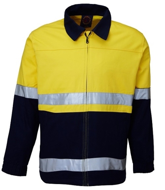 Picture of Ritemate Workwear-RM5071R-Drill Jacket 2 Tone with 3M 8910 Reflective Tape