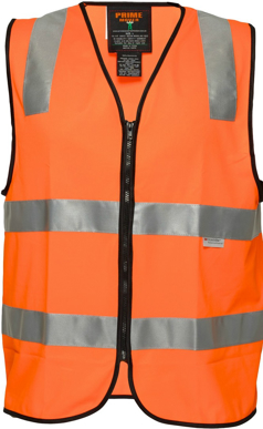 Picture of Prime Mover-MZ102-DAY/NIGHT SAFETY VEST WITH TAPE