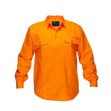 Picture of Prime Mover-MC988-Solid Orange regular Cotton Shirt