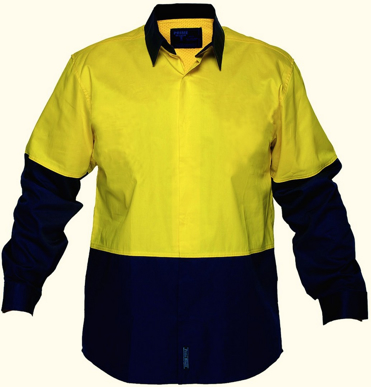 Picture of Prime Mover-MF150-Food Industry Lightweight Cotton Backed Shirt