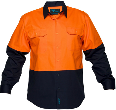 Picture of Prime Mover-MS901-Hi Vis Cotton Drill Shirt