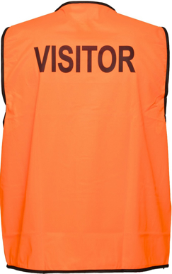 Picture of Prime Mover-MV120-Stock Printed VISITOR Day Vest