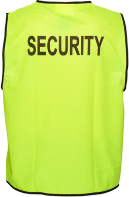 Picture of Prime Mover-MV122-Stock Printed SECURITY Day Vest