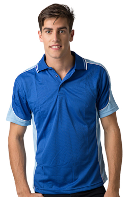 Picture of Be Seen Uniform-BSP15-Men's  Cooldry Micromesh Polo