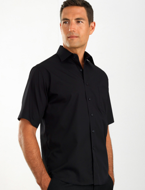Picture of John Kevin Uniforms-201 Black-Mens Short Sleeve Poplin