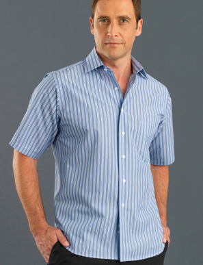 Picture of John Kevin Uniforms-423 Plum-Mens Short Sleeve Fashion Stripe