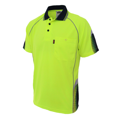 Picture of DNC Workwear-3564-HiVis GALAXY Sublimated Polo