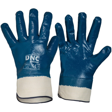 Picture of DNC Workwear-GN34- Blue Nitrile Full Dip with Canvas Cuff