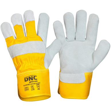 Picture of DNC Workwear-GR25-Yellow Premium Grey Leather Glove