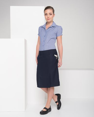 Picture of LSJ collection-375K-MG-Ladies kick pleat skirt with pockets & keyloop