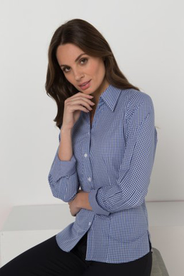 Picture of LSJ collection-200L-GI-Ladies Long sleeve semi fitted shirt with contrast inner collar & cuff