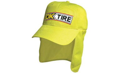 Picture of Headwear Stockist-3023-Luminescent Safety Cap with Flap