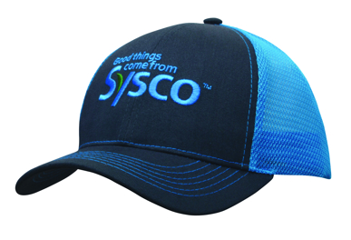 Picture of Headwear Stockist-4002-Brushed Cotton with Mesh Back Cap