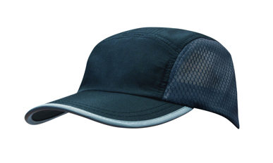 Picture of Headwear Stockist-4003-Sports Ripstop with Bee Hive Mesh and Towelling Sweatband