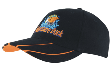 Picture of Headwear Stockist-4019-Brushed Heavy Cotton with Hi-Vis Laminated Two-Tone Peak