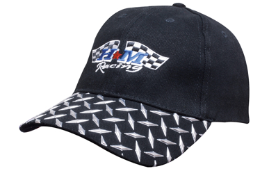 Picture of Headwear Stockist-4044-Brushed Heavy Cotton with Checker Plate on Peak