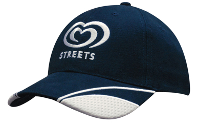Picture of Headwear Stockist-4058-Brushed Heavy Cotton with Mesh Inserts on Peak