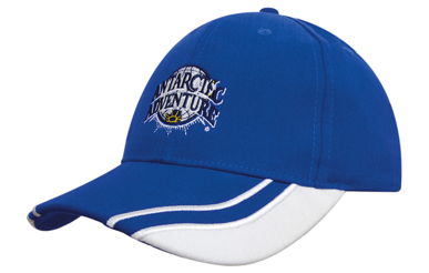 Picture of Headwear Stockist-4073-Brushed Heavy Cotton with Curved Peak Inserts