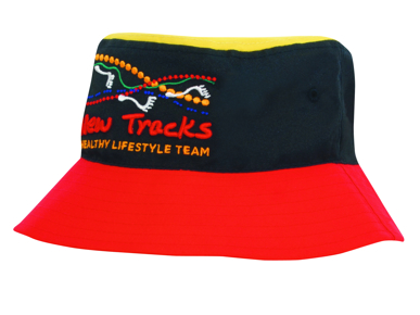 Picture of Headwear Stockist-4220-Breathable Poly Twill Multicoloured Bucket Hat