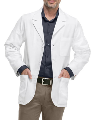 Picture of Cherokee Uniforms-CH-1389A-Med-Man Professional Whites with Certainty Men's Consultation Lab Coat
