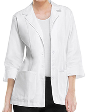 Picture of Cherokee Uniforms-CH-2330-Cherokee Women Two Pocket Three Quarter 29 Inches Short Lab Coat