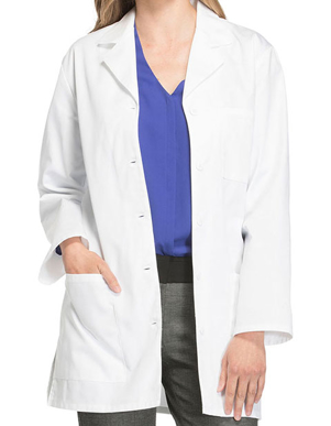 Picture of Cherokee Uniforms-CH-1462-Cherokee Women Three Pocket 32 Inches Short Medical Lab Coat