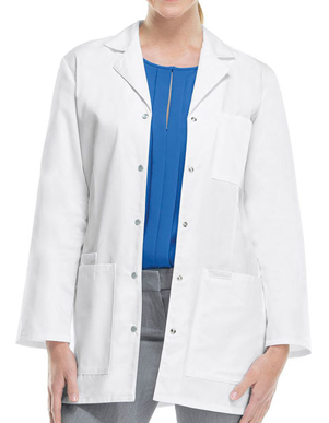 Picture of Cherokee Uniforms-CH-1369-Cherokee Women 32 inch Three Pocket Snap Front Medical Lab Coat
