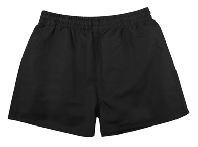 Picture of Midford Uniforms-SHORG1-CHILDRENS RUGBY PLAYING SHORTS - BLACK(RSHB001M)