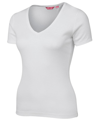 Picture of JBs Wear-1LV-JB's LADIES V-NECK RIB TEE