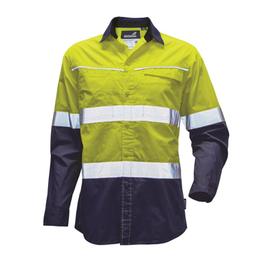 Picture of Mack Workwear-MKALS0002-Xenon 2Tone Hi Vis Day & Night Taped Ripstop Long Sleeve Shirt