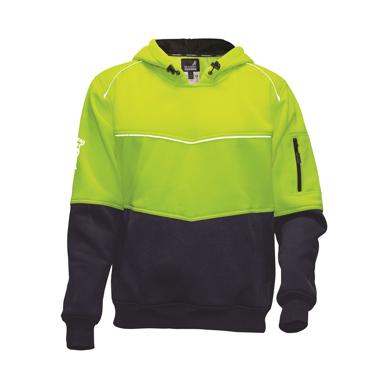 Picture of Mack Workwear -MKALH0002-Xenon 2Tone Hi Vis Polyester Fleece Hoodie