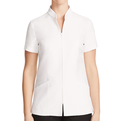 Picture of NNT Uniforms-CATU68-WHT-Zip Front Tunic