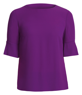 Picture of NNT Uniforms-CATU5T-PUR-Fluted Sleeve Top