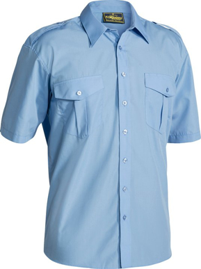 Picture of Bisley Workwear-B71526-Epaulette Shirt Short Sleeve