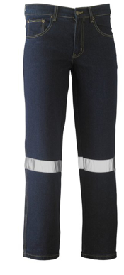 Picture of Bisley Workwear-BP6712T-3M Taped Rough Rider Stretch Demin Jean
